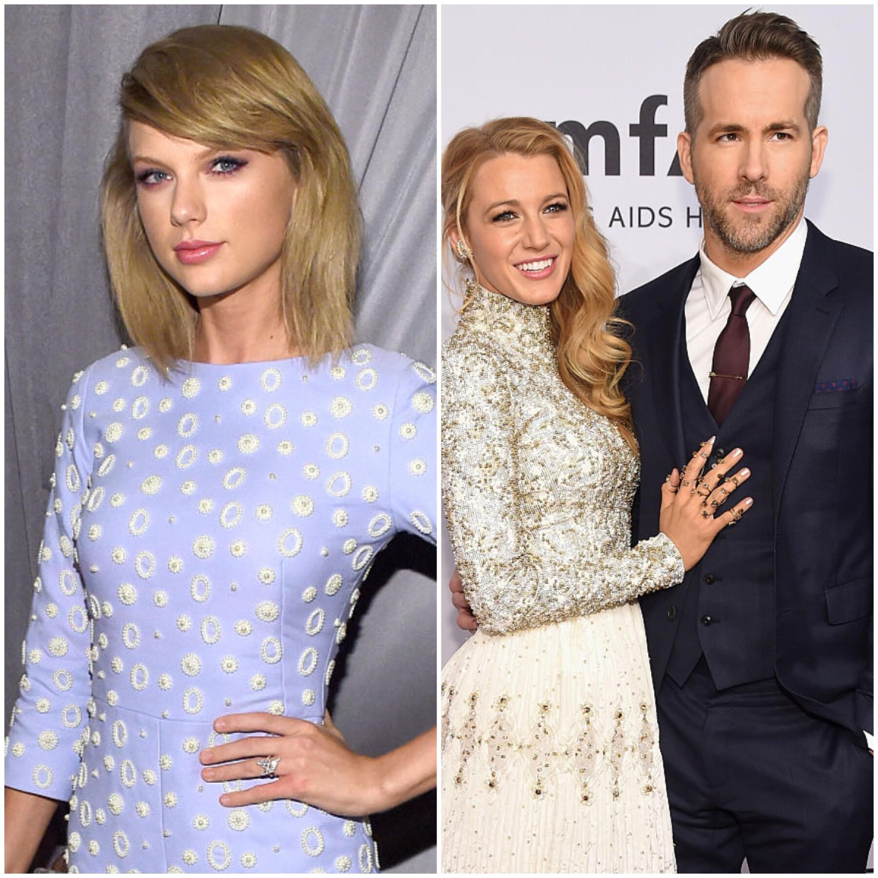 Taylor Swift, Blake Lively y Ryan Reynolds
