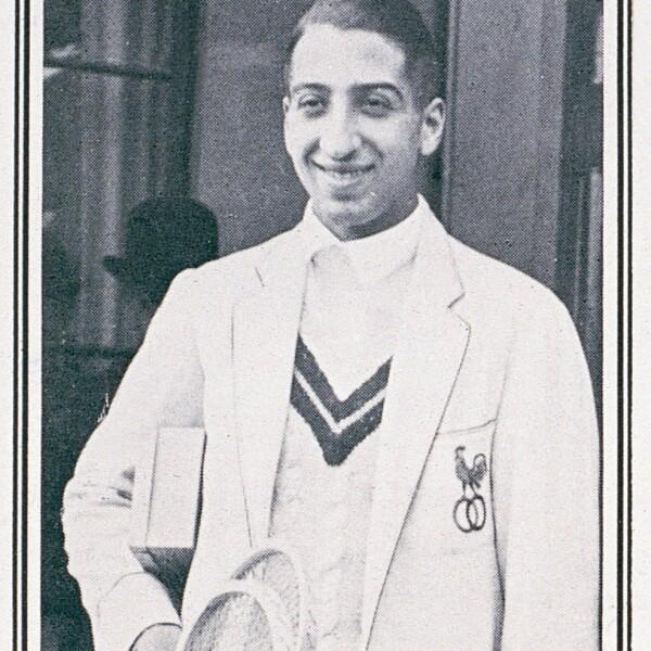 René Lacoste en la final de Wimbledon 1925.