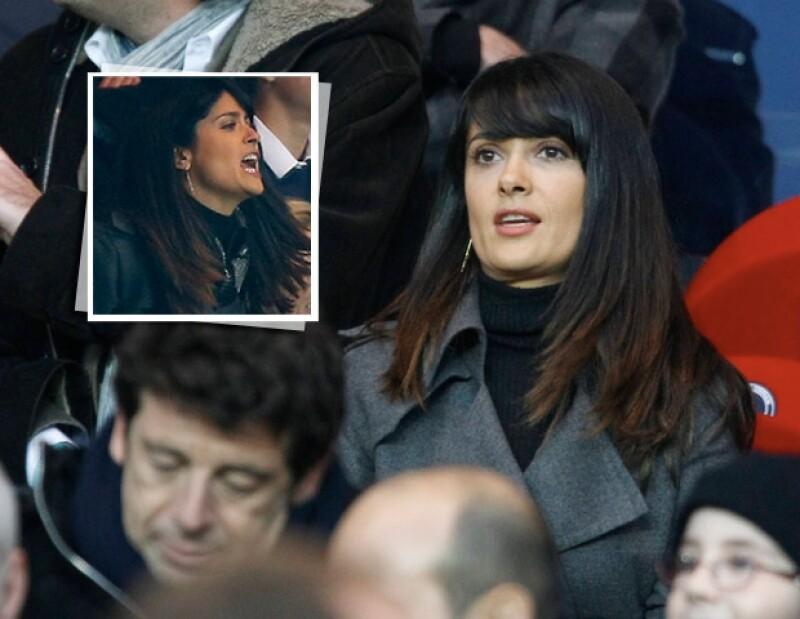 El fanatismo de la actriz mexicana por el balompié quedó evidenciado en el partido del sábado entre el Stade Rennais y el París Saint-Germain en la capital francesa.