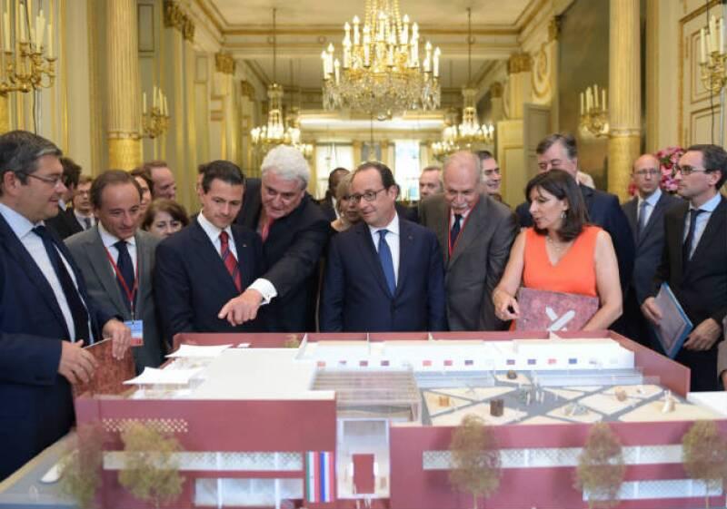 Maqueta de la Casa Mexicana que se construirá en París