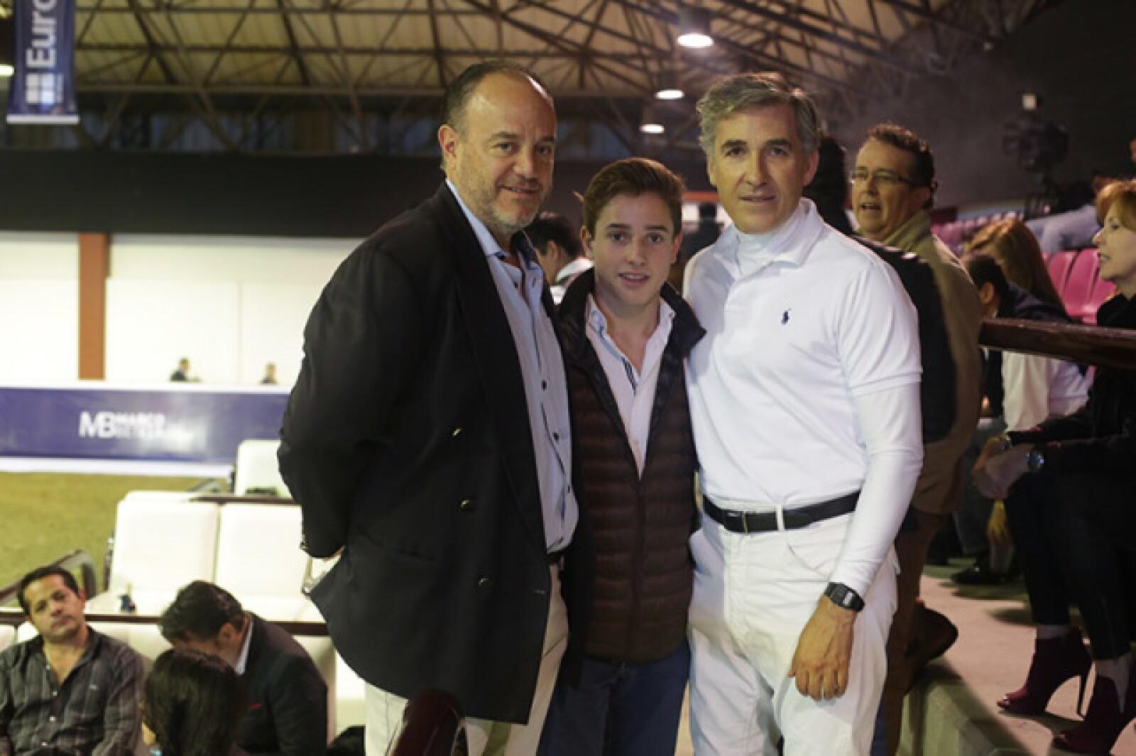 Juán Manuel Riego,Eugenio Riego y Guillermo Herrera