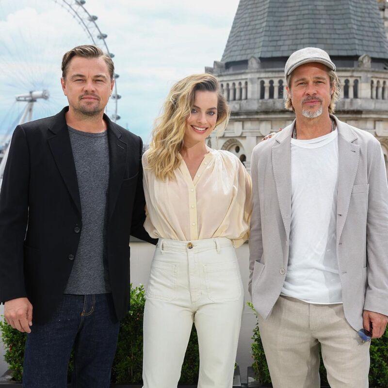 Leonardo DiCaprio, Margot Robbie y Brad Pitt