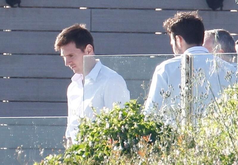 A la fiesta también acudió Leo Messi con Antonella.