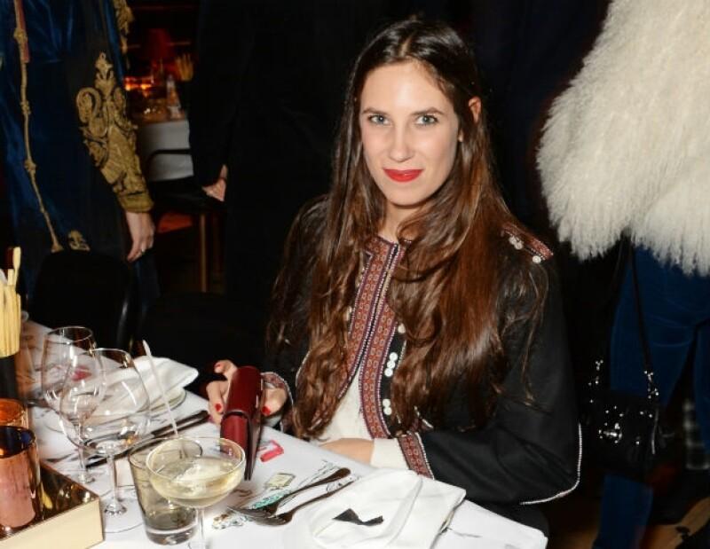 Tatiana Santo Domingo lució muy tranquila en un evento en Londres hace dos semanas .