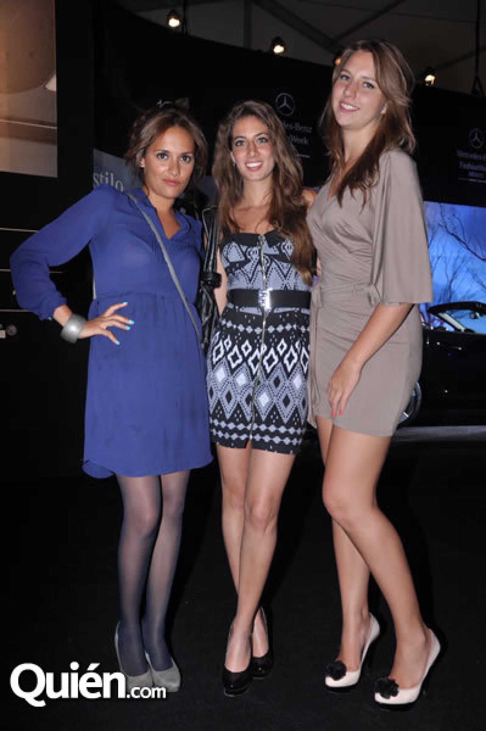 Rebeca Salinas, Ashanti Manzur y Daniela Crivelli