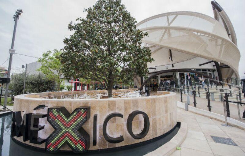 Vista exterior del Pabellón de México en la Expo Milán.