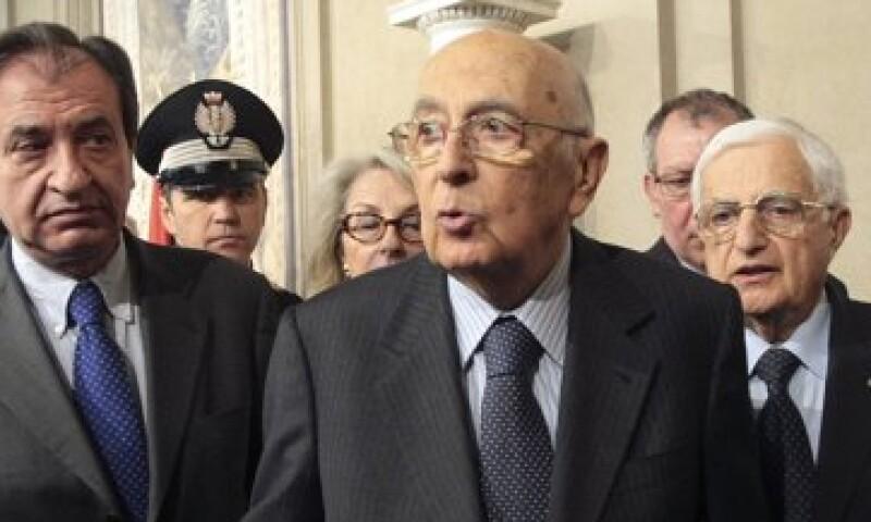 Algunos reportes señalaron que el mandatario italiano, Giorgio Napolitano, podría dejar el cargo antes de las elecciones. (Foto: Reuters)