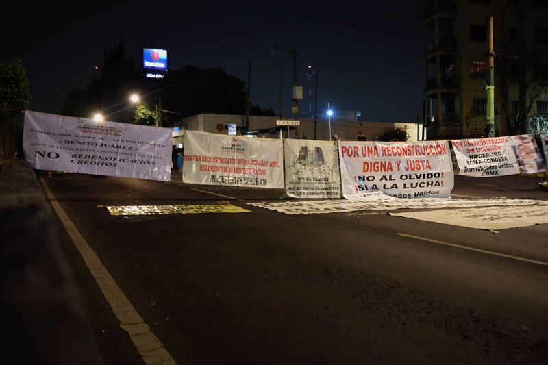 Damnificados bloqueo Tlalpan
