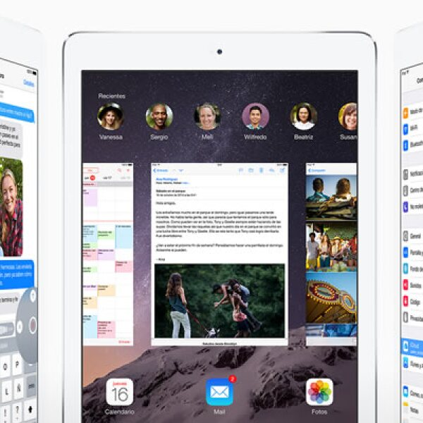 La iPad Air 2 viene con el nuevo sistema operativo iOS 8.