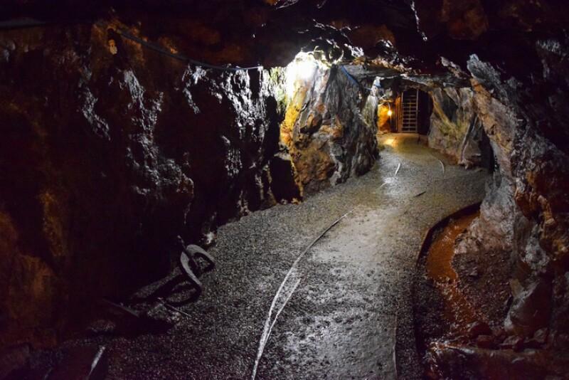 Mine Tunnel and Tracks