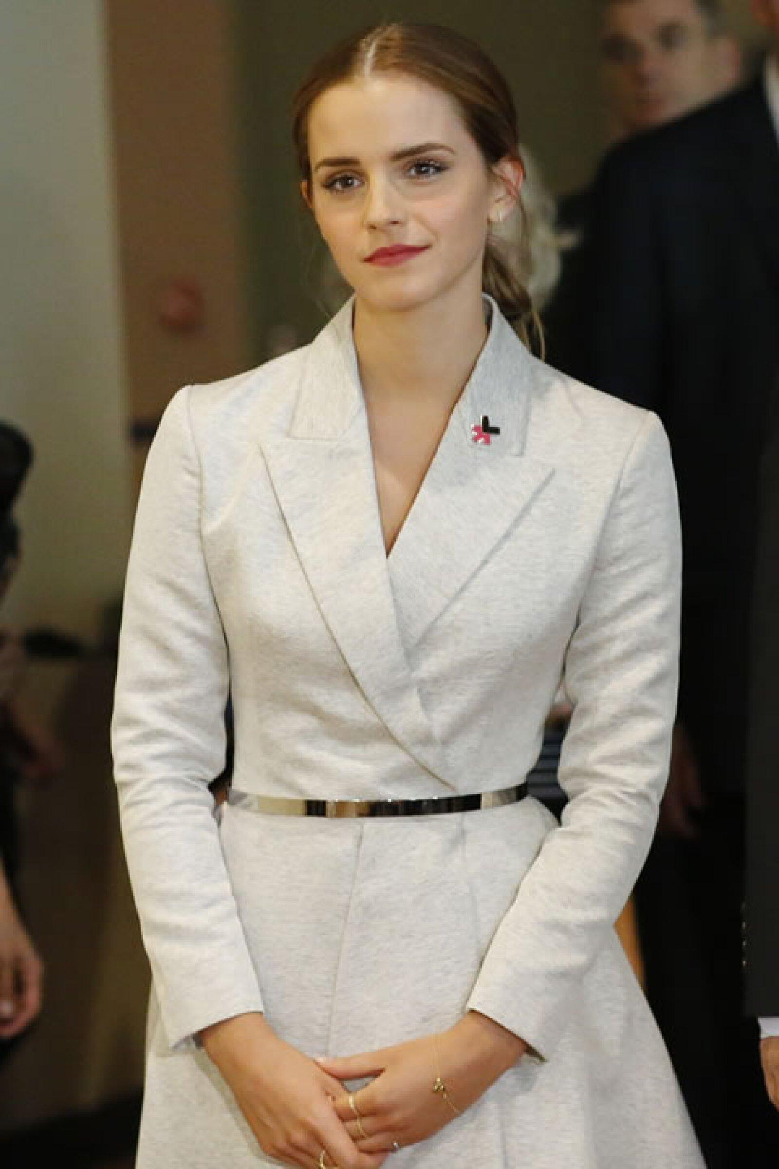 En el lanzamiento de la campaña HeForShe en 2014.