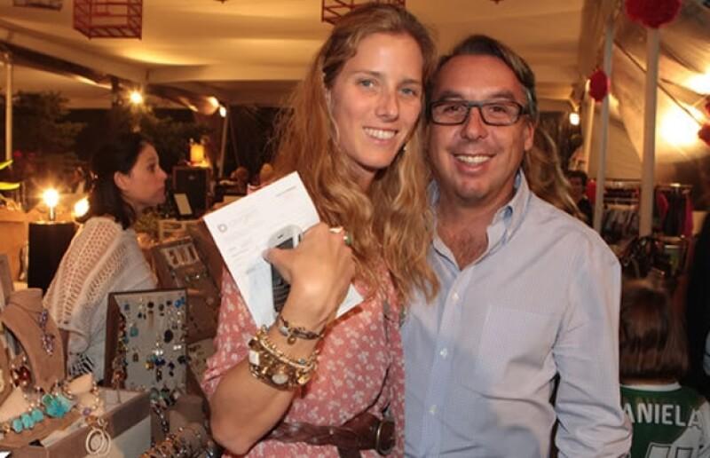 Sharon Fastlich y Emilio Azcárraga