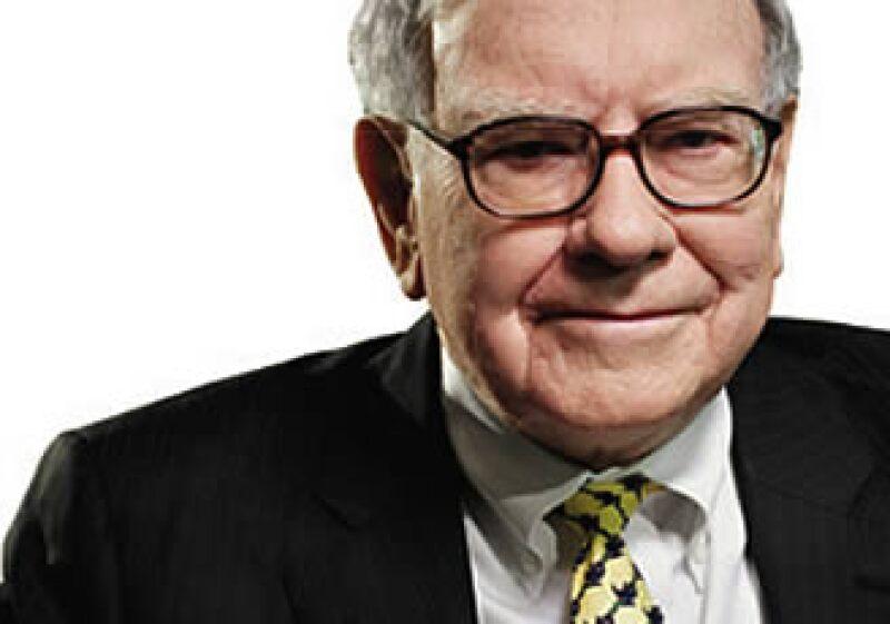 El empresario Warren Buffett cuenta además con una inversión de 2,900 mdd en Swiss Re. (Foto: Archivo)