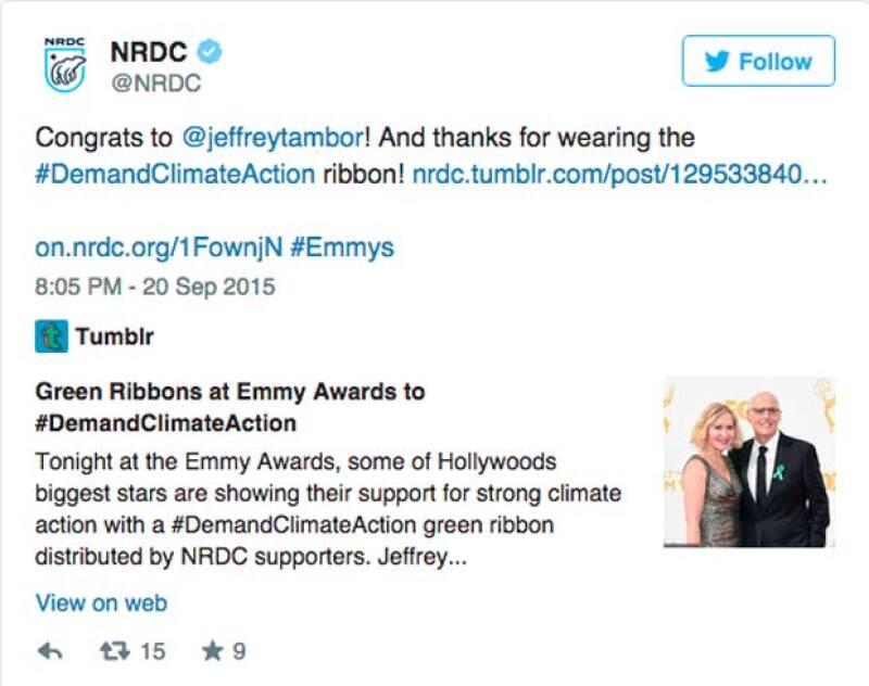 Con este tuit, la organización agradeció a los actores por el apoyo.