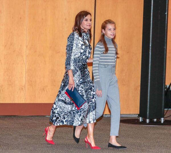 Reina Letizia y la infanta Sofía