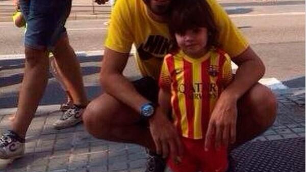 El futbolista compartió imágenes de su presencia en los festejos y manifestaciones para exigir la separación de Cataluña de España.