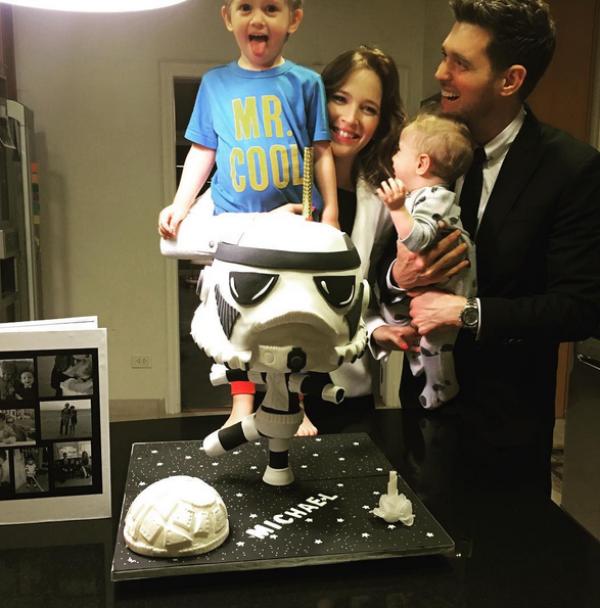 Michael Bublé y su familia