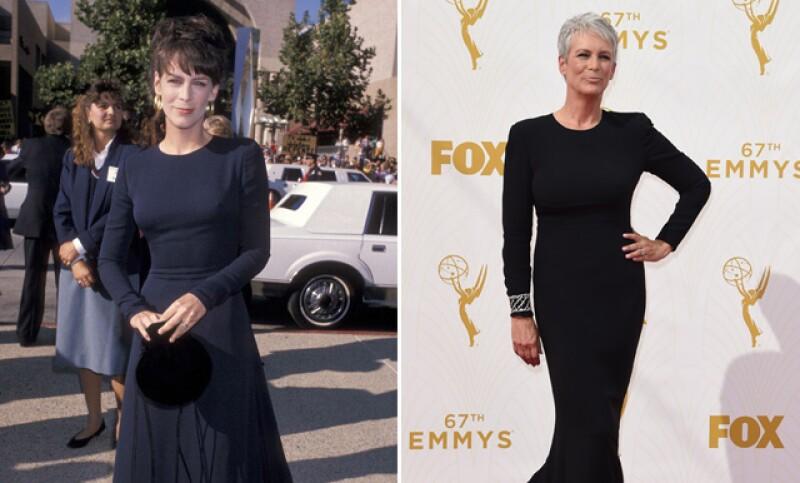 Lució guapísima, pero la actriz pareció usar el mismo diseño que hace 26 años en la misma premiación.