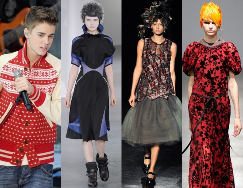 Justin Bieber y modelos usando Junya Watanabe