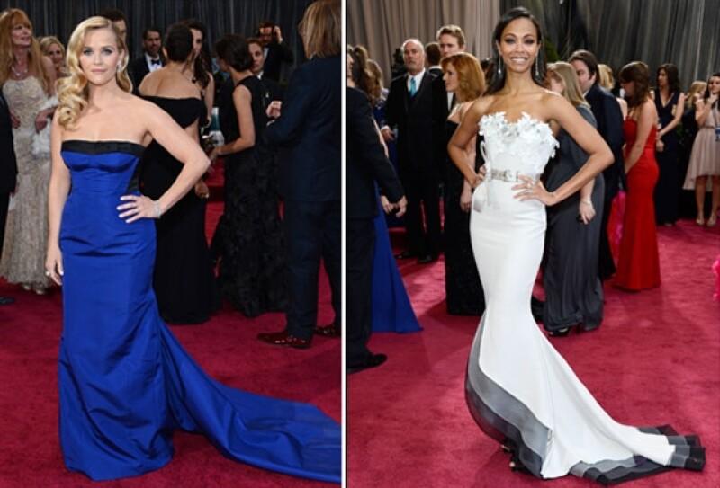 Giorgio Armani podría adjudicarse una victoria en los Oscar el domingo por la noche: el diseñador vistió a Jessica Chastain y Quvenzhane Wallis, y Naomi Watts usó Armani Privé.