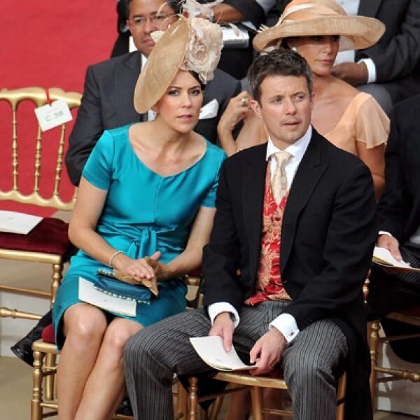 Los príncipes de Dinamarca Mary y Federico.