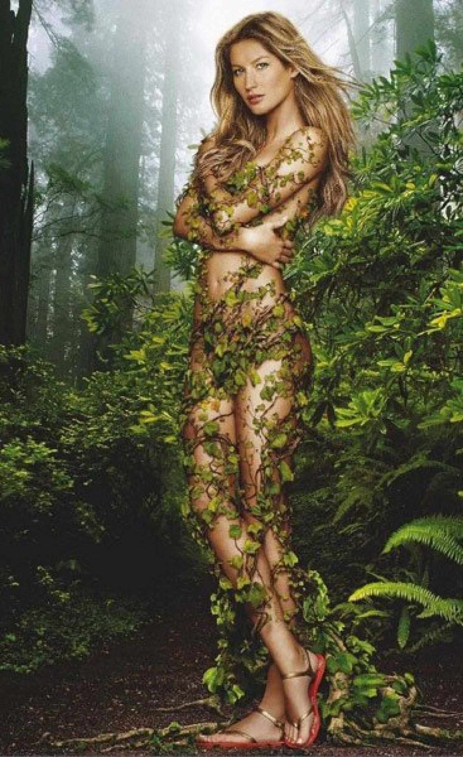 La modelo Gisele Bündchen posó desnuda