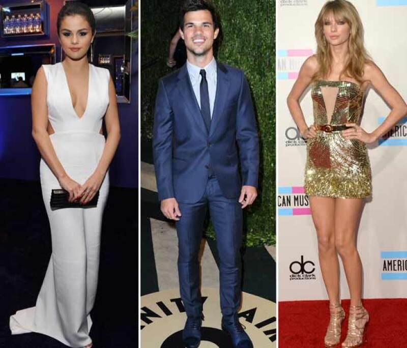 Selena Gomez y Taylor Swift tuvieron romance con Taylor Lautner.