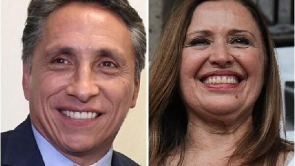Manuel Negrete y María Rojo