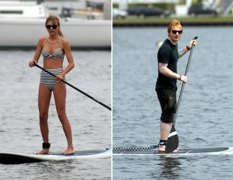 Taylor y Ed fueron captados cerca de Boston.