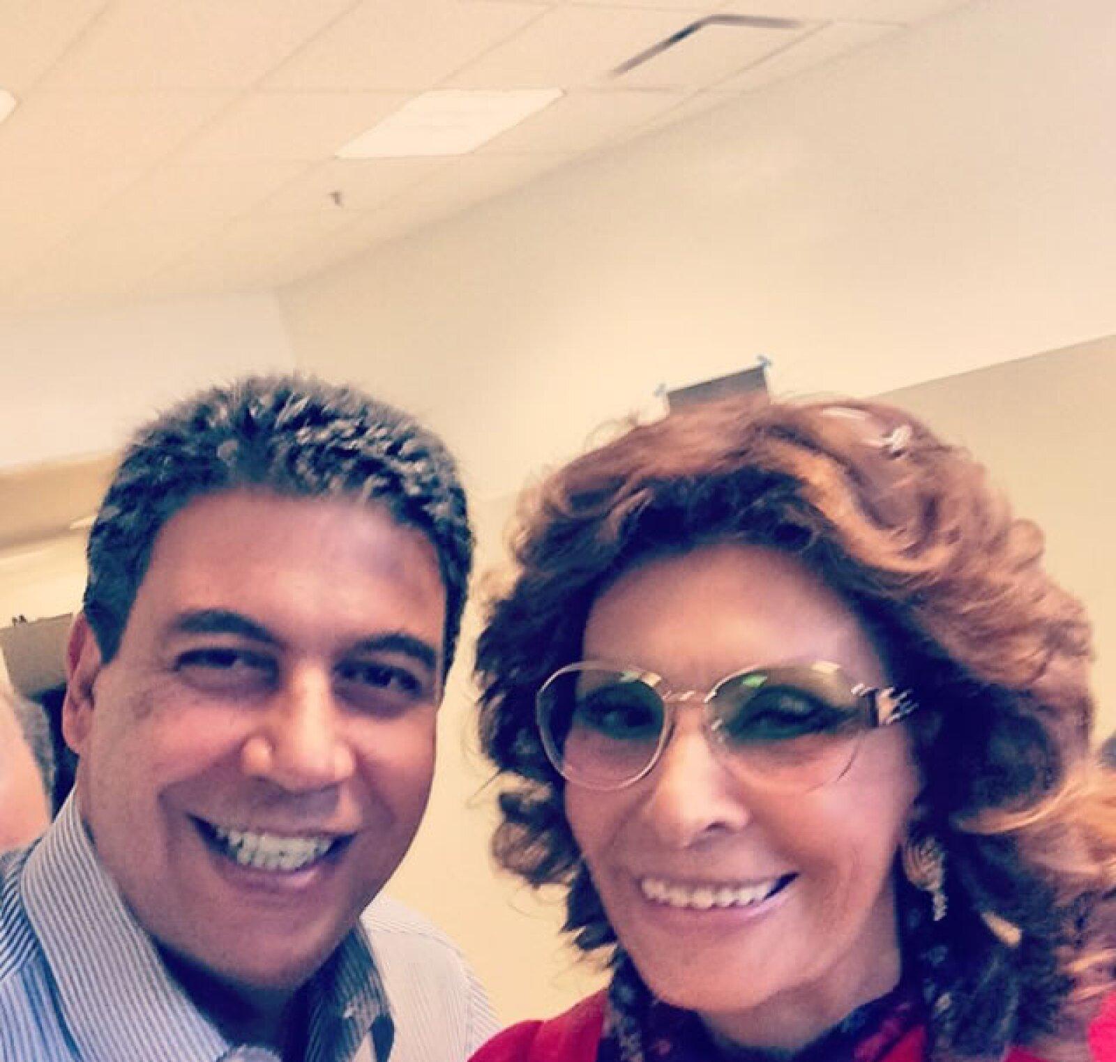 Con la actriz Sophia Loren.