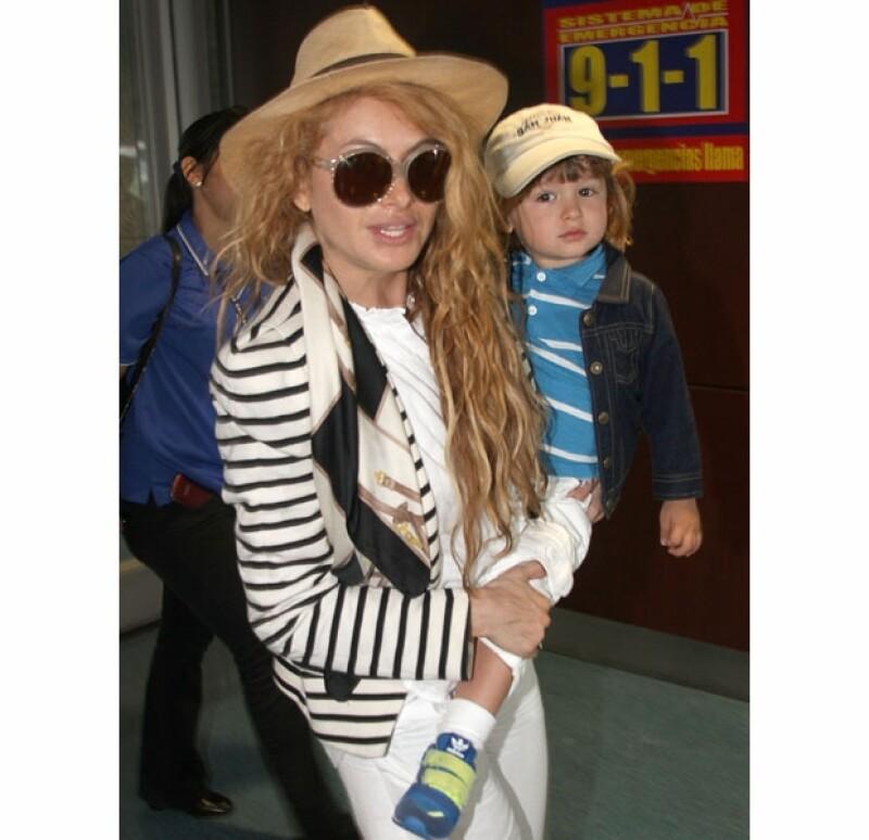 La cantante tuvo a Andrea Nicolás con el empresario y él está bajo custodia de la cantante.