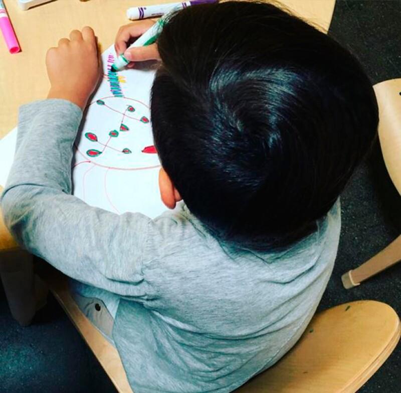 El niño de seis años, hijo de Kourtney Kardashian y Scott Disick, luce ahora el pelo negro, lo que ha despertado varias versiones del por qué del cambio.