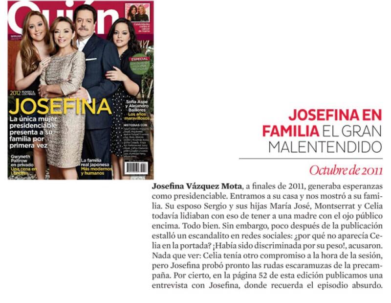Josefina Vázquez Mota en familia.