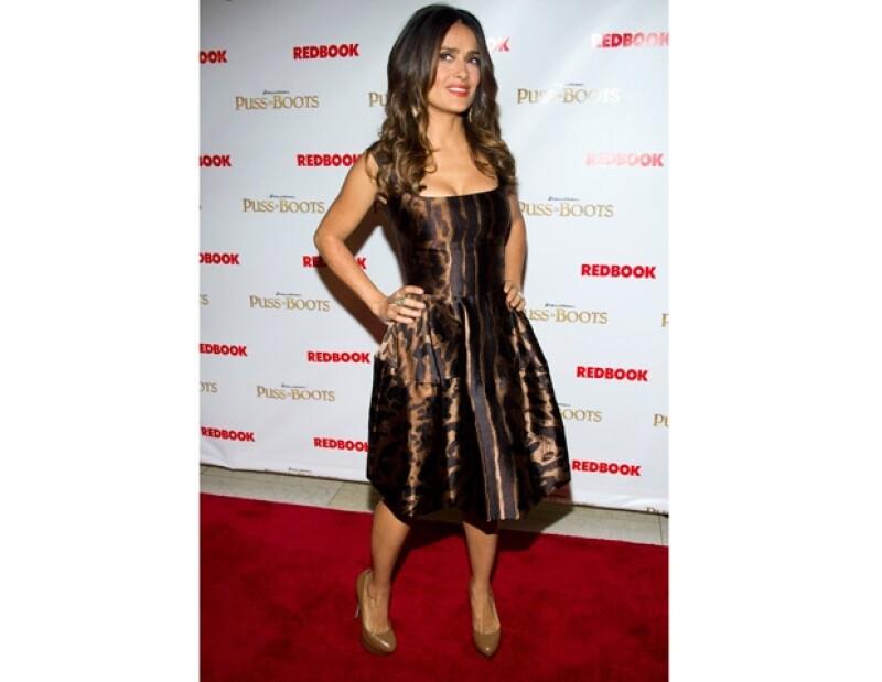 Salma es fan de los diseños Alexander McQueen.