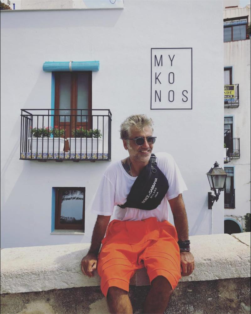 Alejandro Fernández en Mykonos