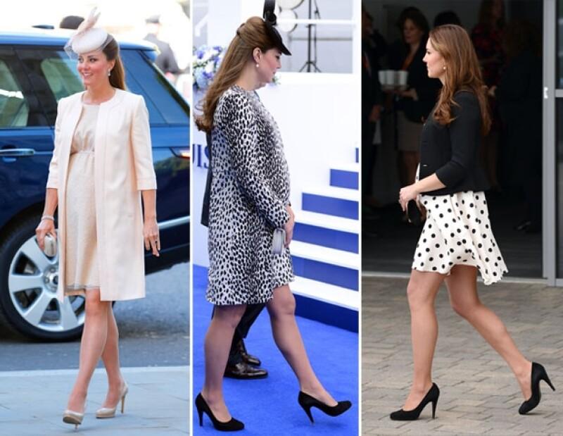 Kate normalmente usa estos dos pares de zapatos, por lo que se le facilita caminar en ellos.