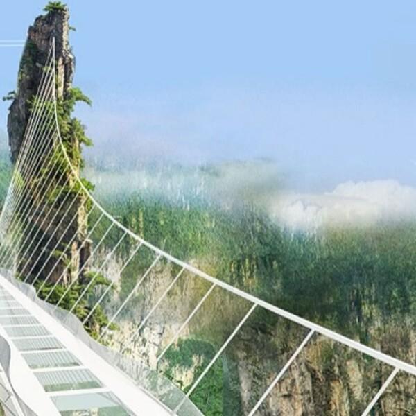 Puente piso cristal Zhangjiajie China