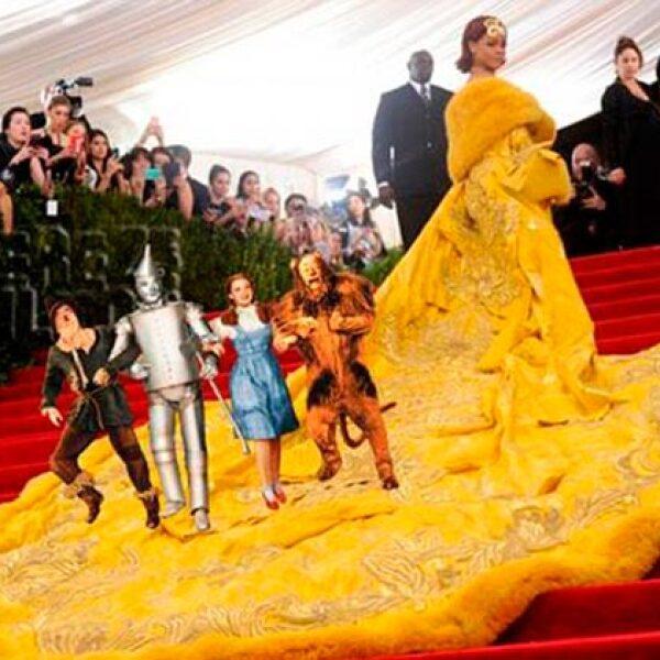 Rihanna hizo alusión a una escena de El Mago de Oz.