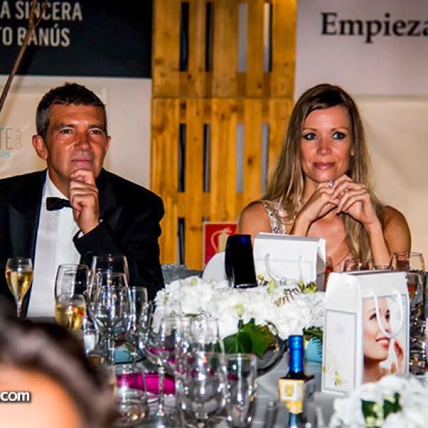 Antonio Banderas y Nicole Kimpe