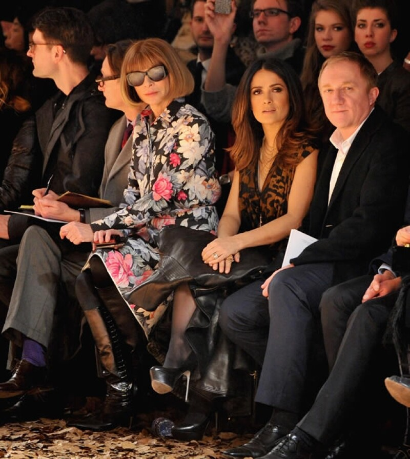 Salma se sentó en primera fila al lado de Anna Wintour.