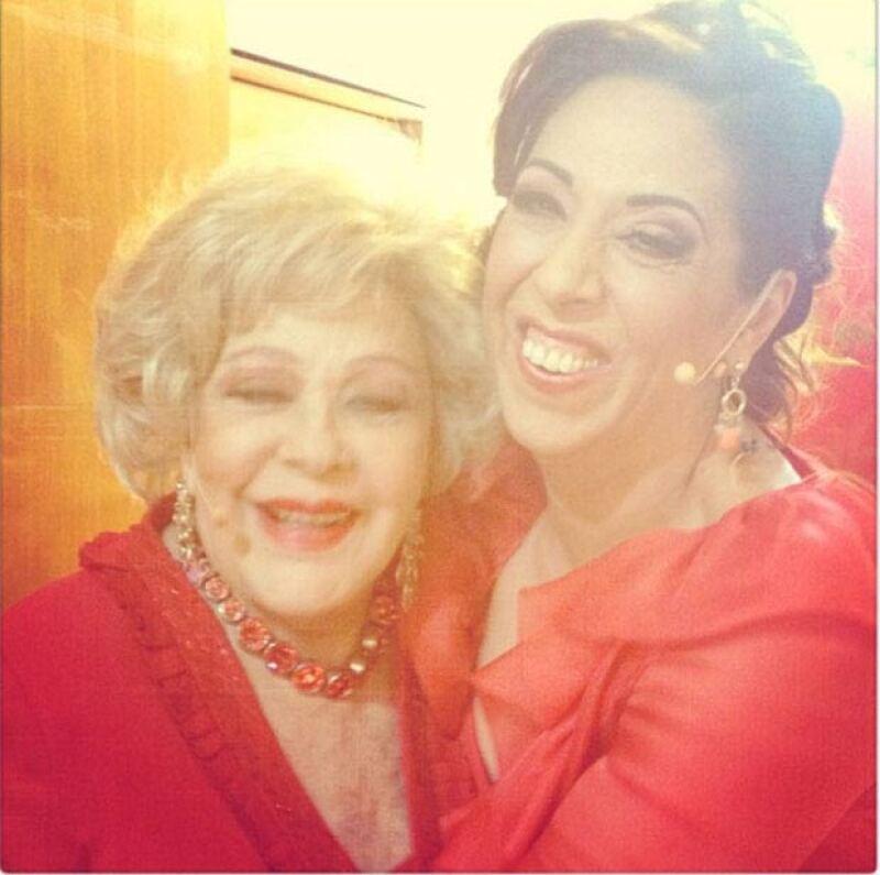 Regina Orozco con Silvia Pinal