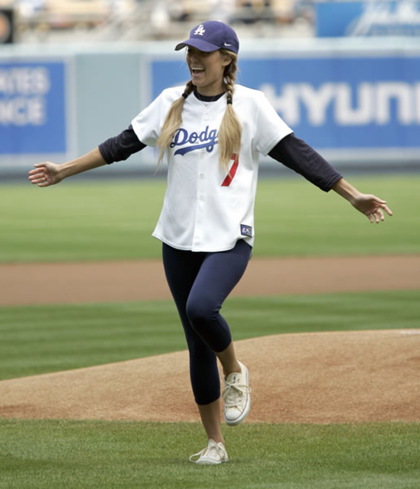 También fan de los Dodgers es la estrella de The Hills y californiana de nacimiento, Lauren Conrad.