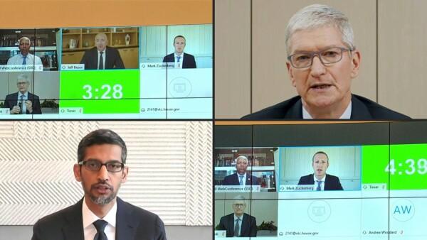 Los 4 gigantes tecnológicos se defienden ante el Congreso de EU
