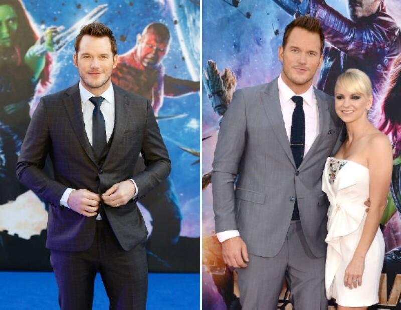 Chris Pratt y Anna Faris son una pareja que se apoya mutuamente en sus estrenos de cine.