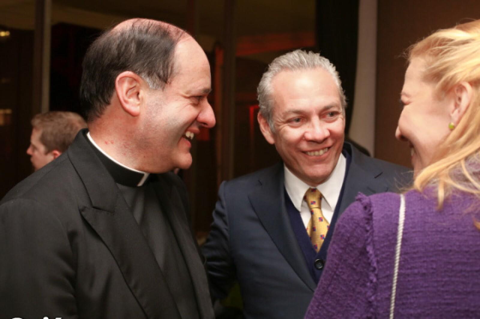 Padre Jeús Quirce y Fernando Solís Cámara.
