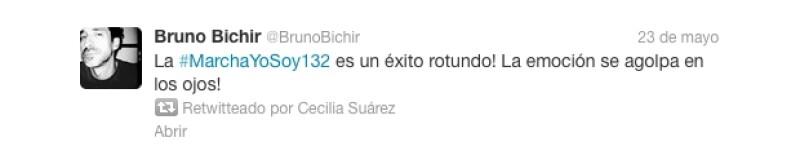Cecilia Suárez dio RT a lo que escribió su colega Bruno Bichir.