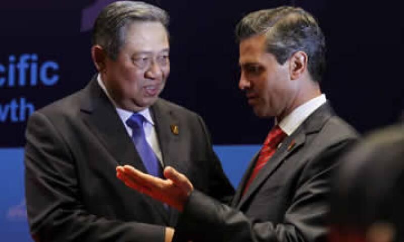 El presidente Peña Nieto se reunió con el mandatario de Indonesia, Susilo Bambang Yudhoyono. (Foto: Reuters)
