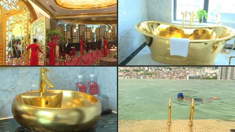 Así luce un hotel cubierto casi por completo de oro de 24 kilates
