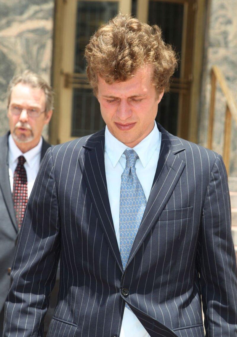 Conrad Hilton al salir del juzgado en junio de 2015.
