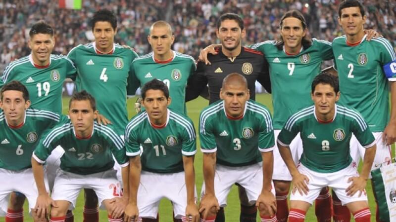 La seleccion mexicana ante Dinamarca